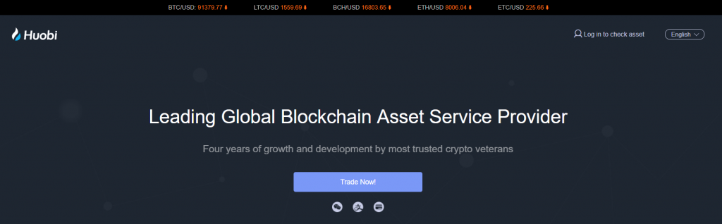 Buy bitcoin at Huobi