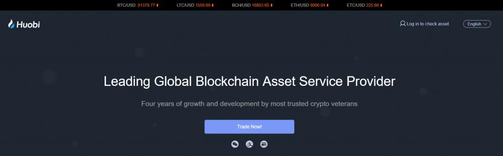 Buy bitcoin at Huobi