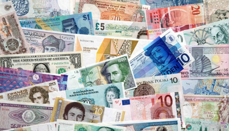 Many fiat currencies are available