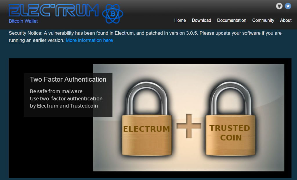 Two-factor authentication on Electrum wallet