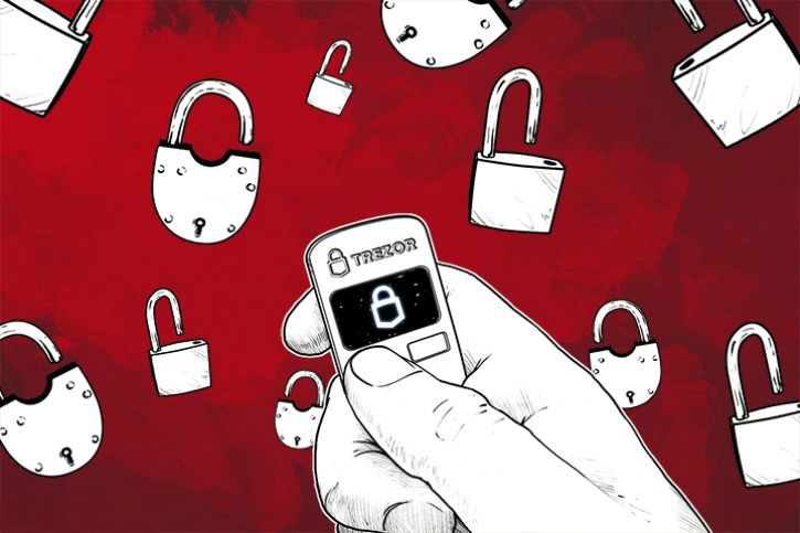 TREZOR hardware wallet for bitcoins