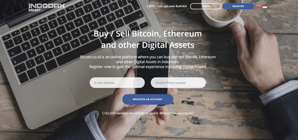 Bitcoin.co.id (Indodax.com) exchange