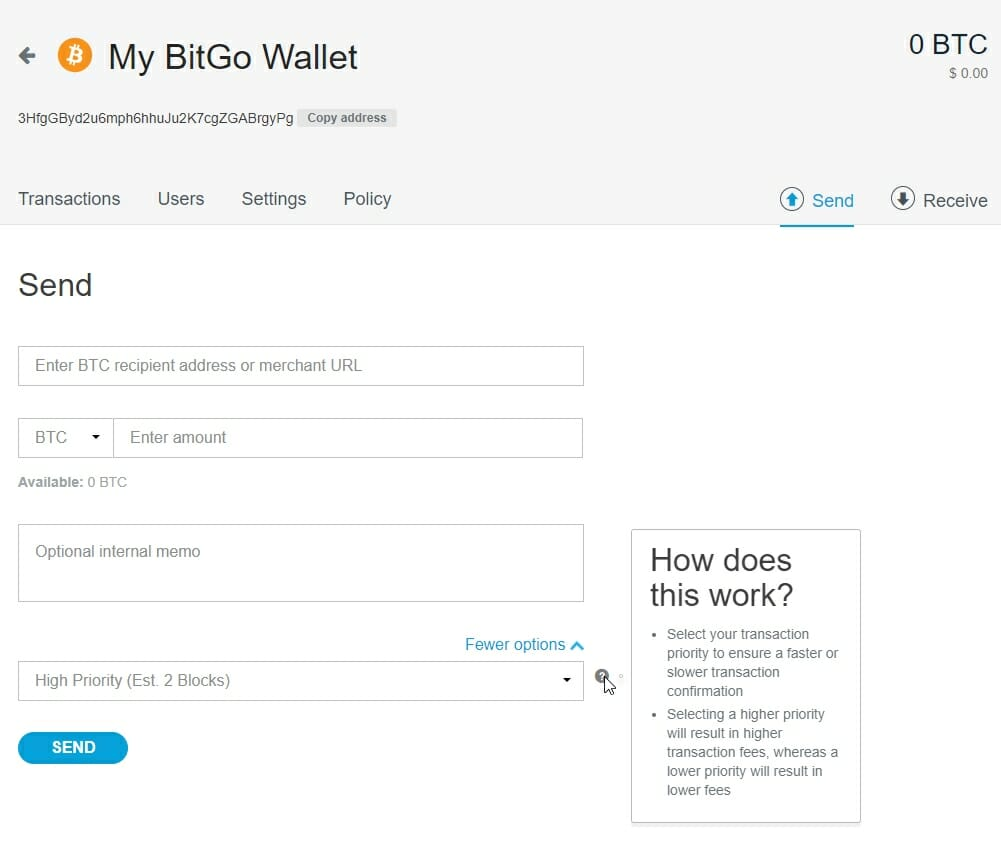 BitGo bitcoin transaction process