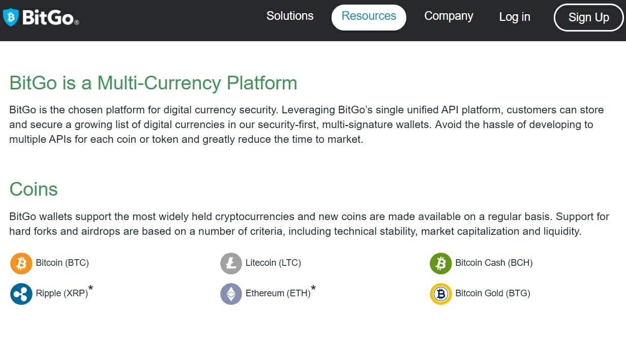 bitgo cryptocurrency wallet
