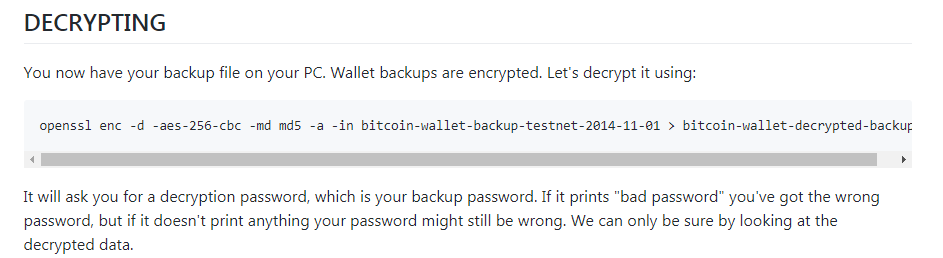 Decrypting of Schildbach wallet backup