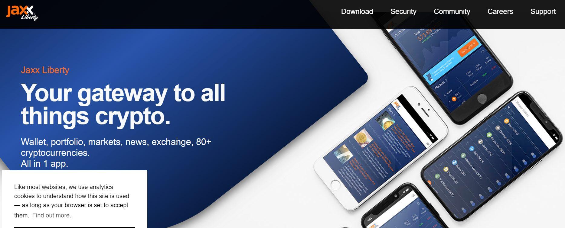 Jaxx Liberty wallet website