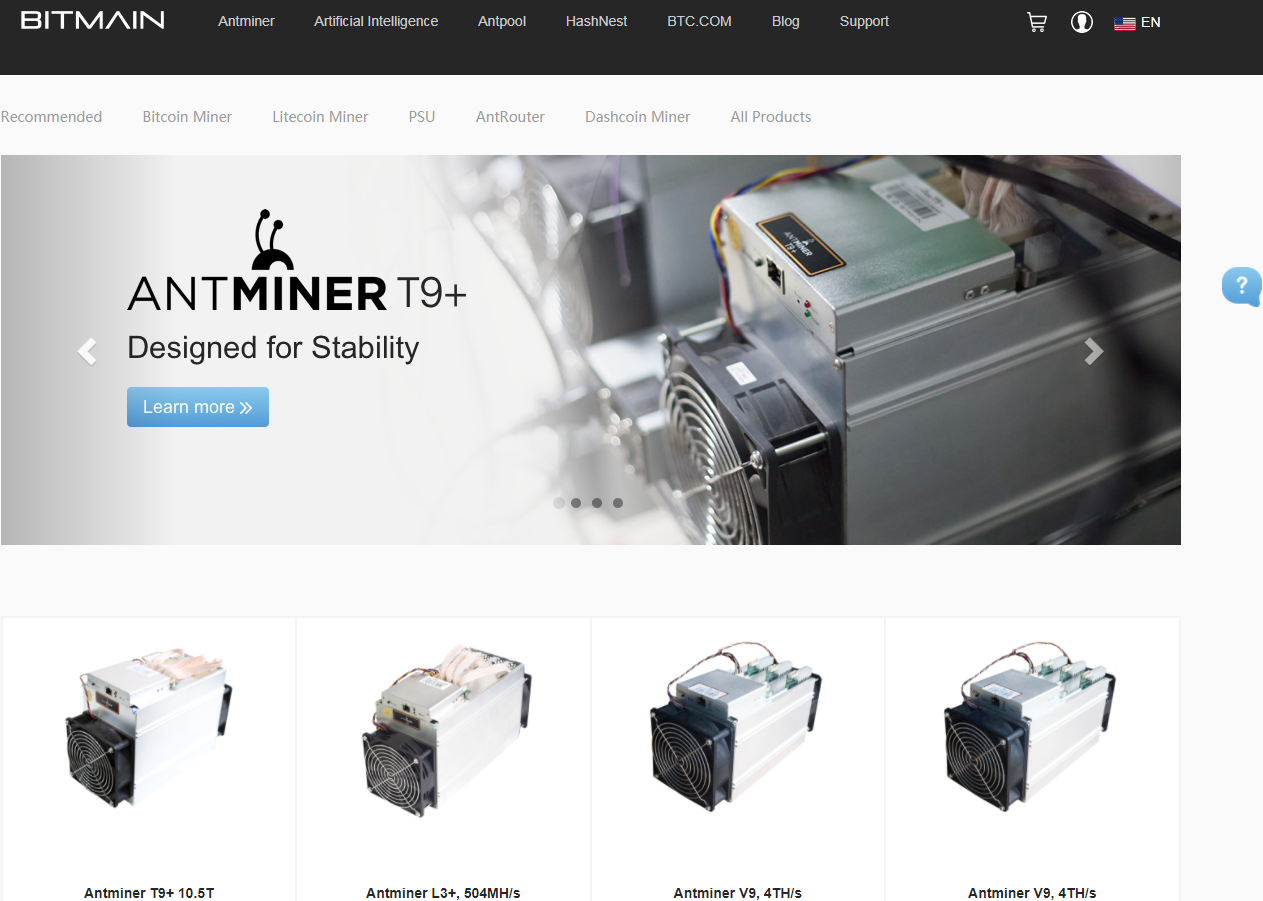 Antminer mining equipment