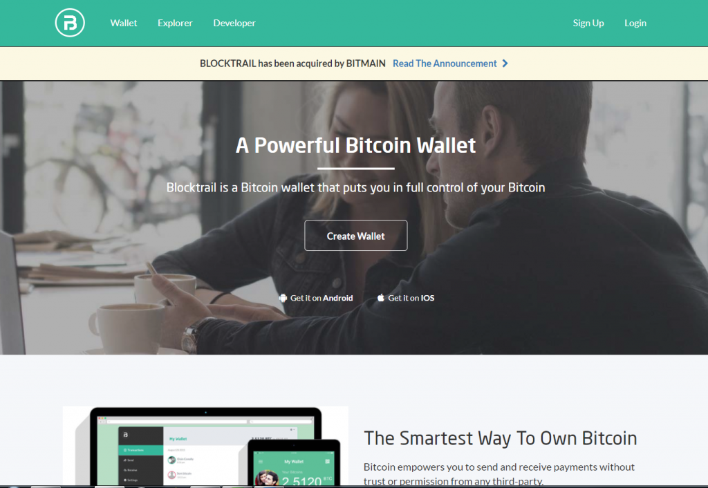 Blocktrail BTC wallet