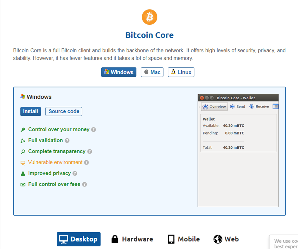 Download Bitcoin Core client