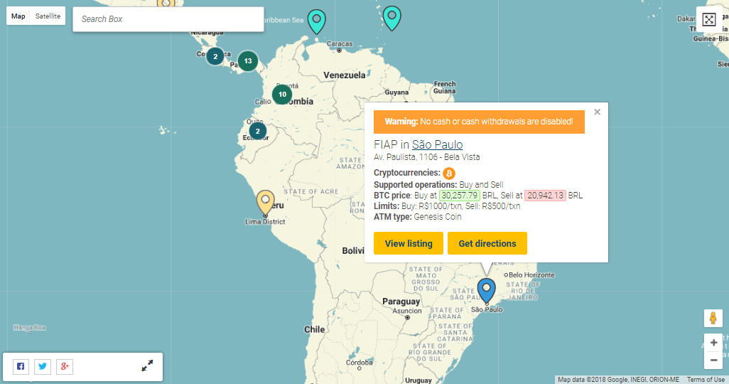 Bitcoin ATMs in Brazil