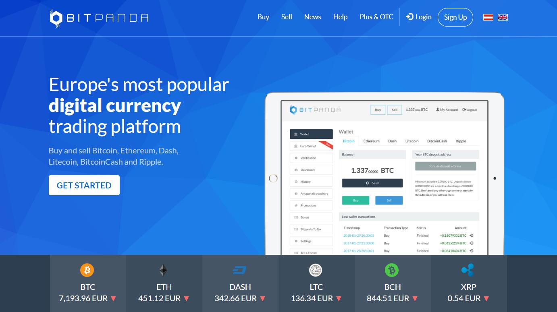 BitPanda trading platform