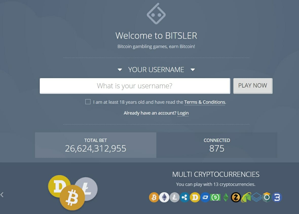 Bitsler gambling website