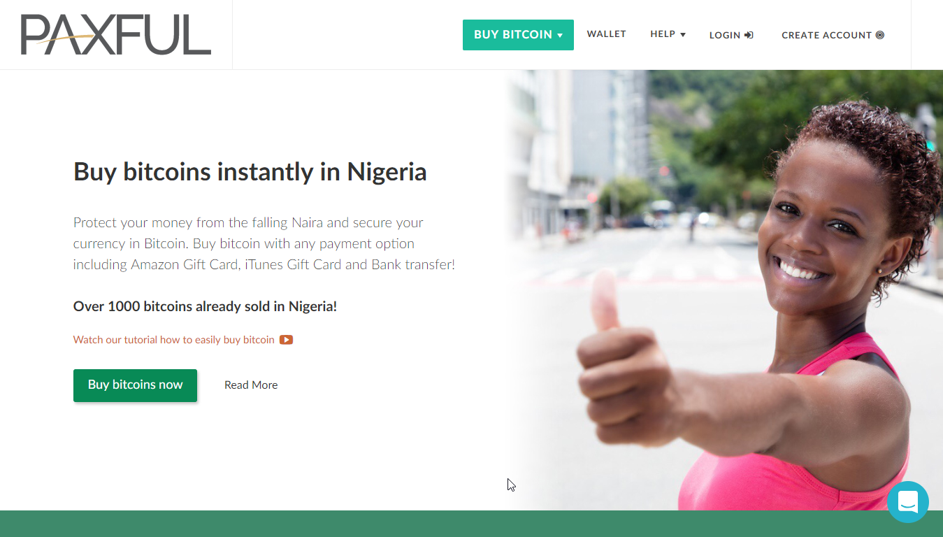 Buy bitcoins in Nigeria with Paxful