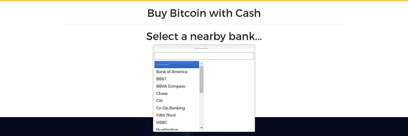 Choose a bank at Wall of Coins