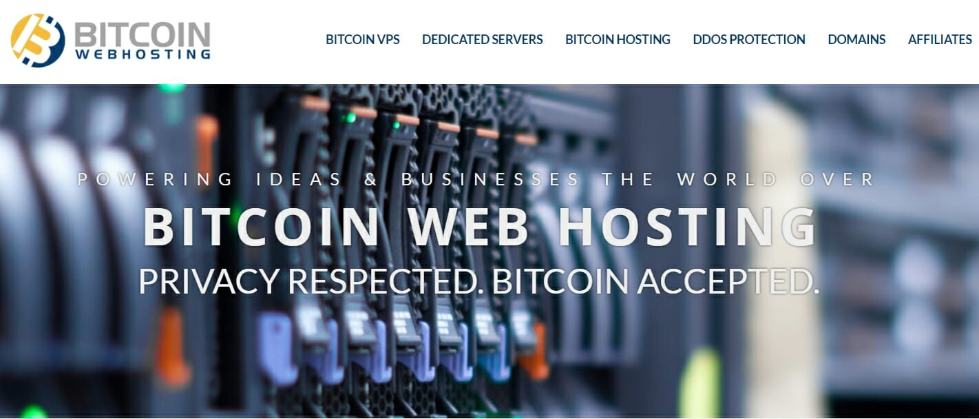 Create domain at Bitcoin Web Hosting