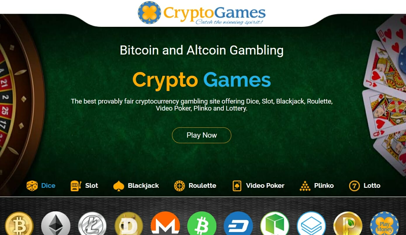 CryptoGames BTC gambling site