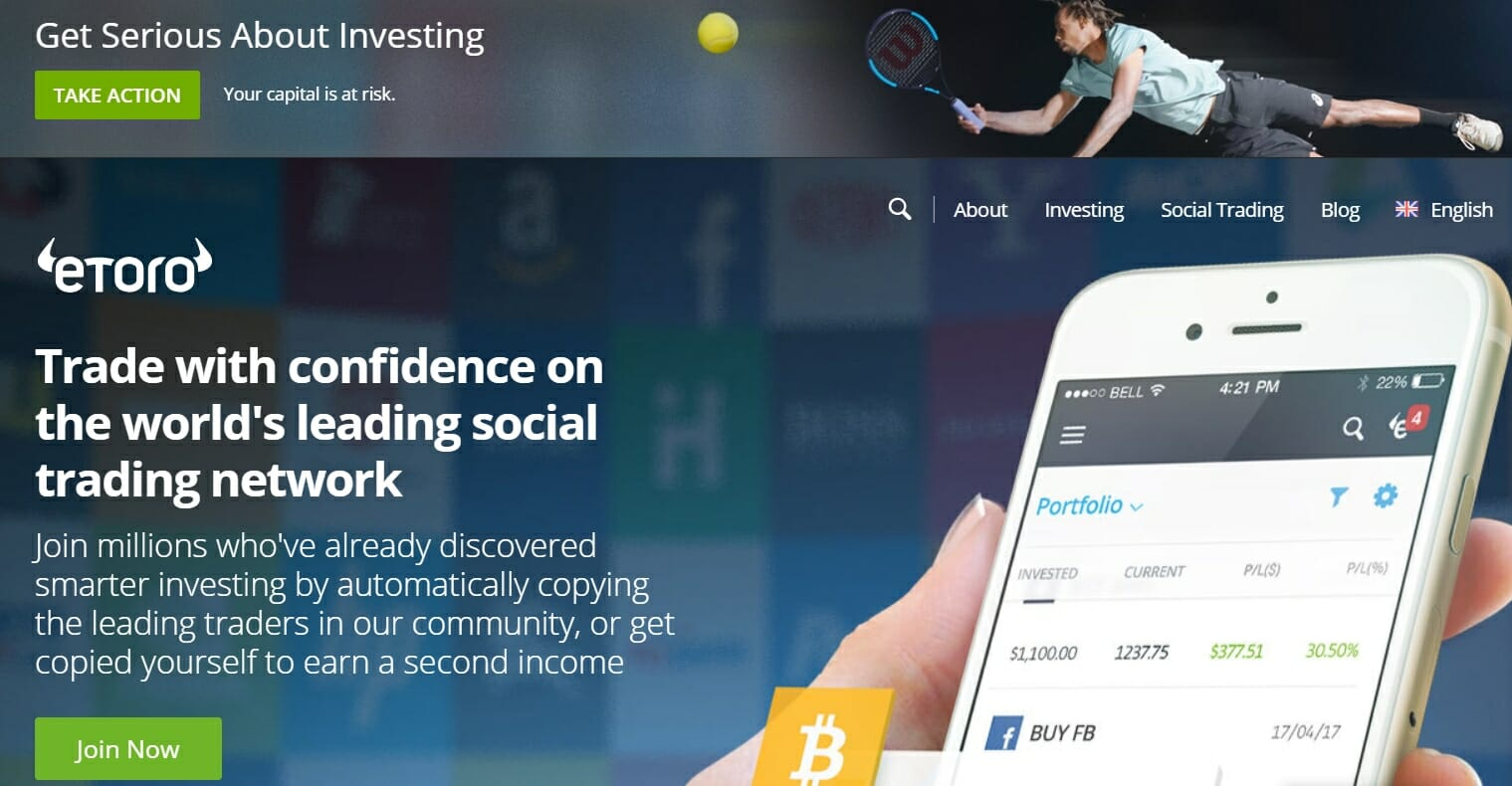 eToro official website