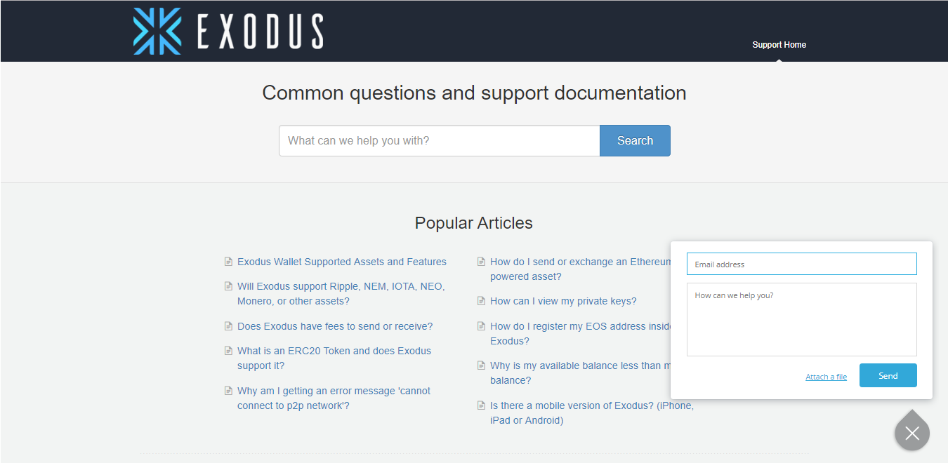 Exodus customer support