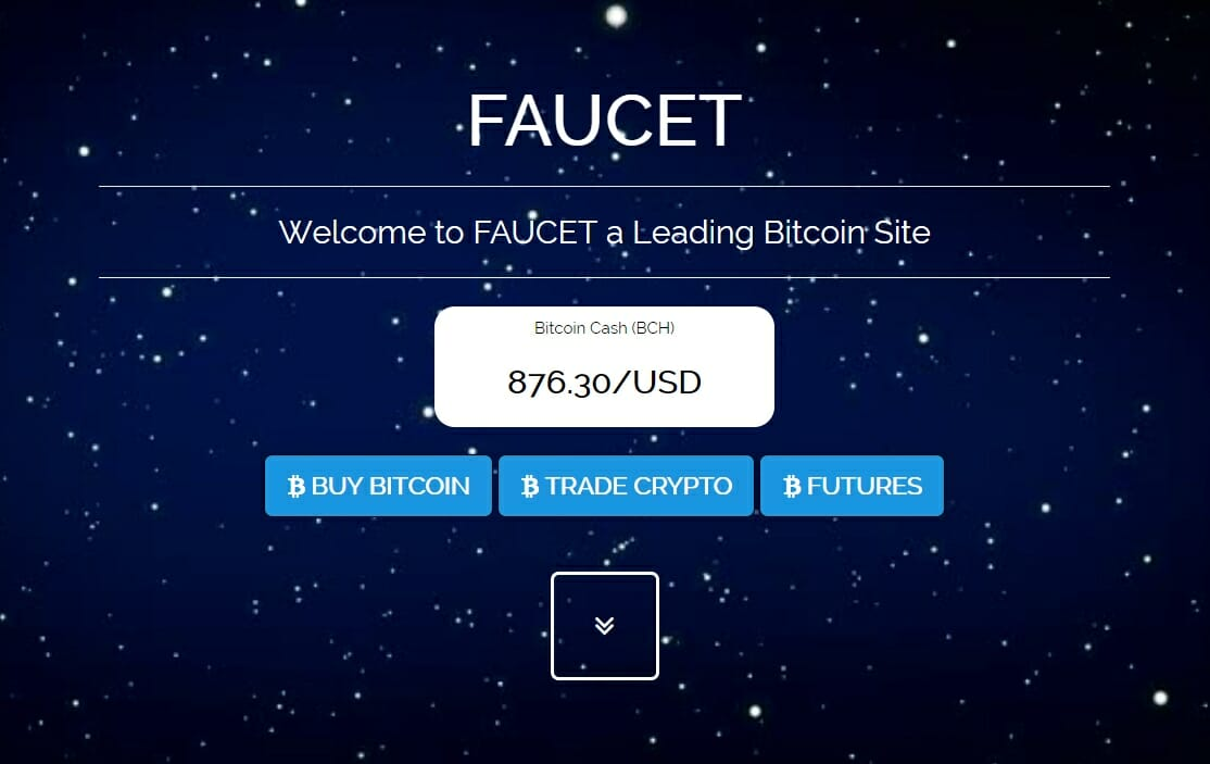 FAUCET bitcoin website