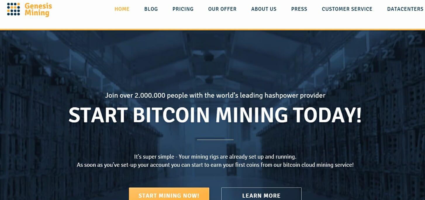 Genesis mining website