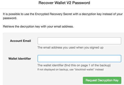 How to recover wallet password on BTC.com