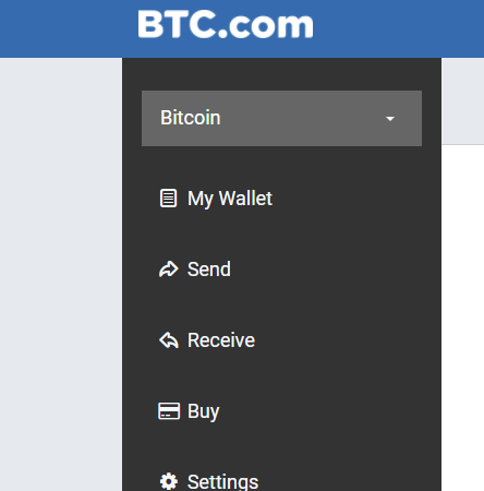 How to send receive buy bitcoins on BTC.com