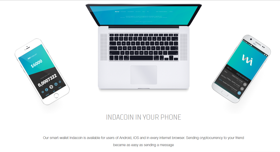 Indacoin mobile app