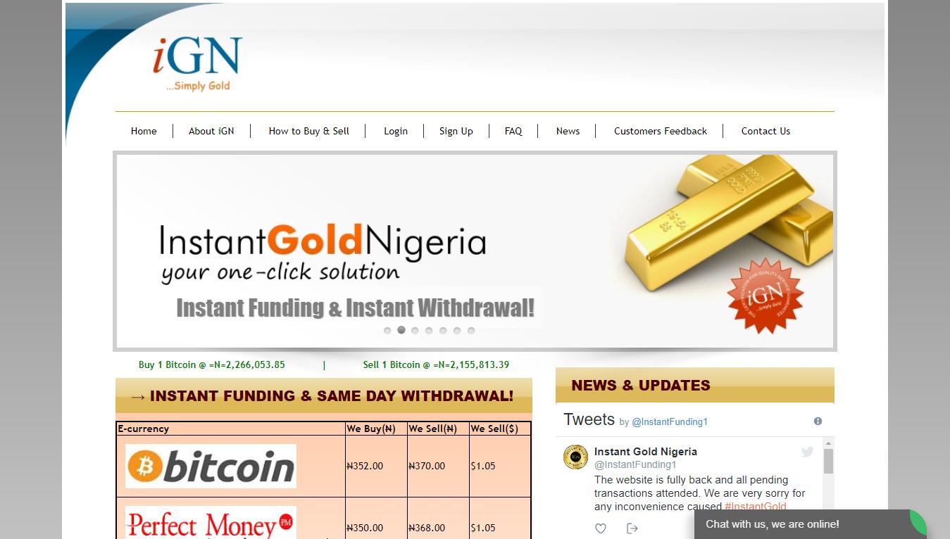 Instant Gold Nigeria site