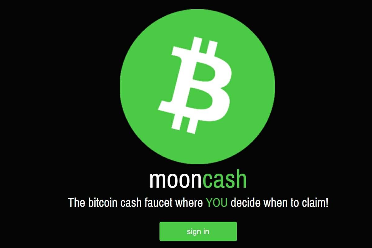 Moon Cash faucet