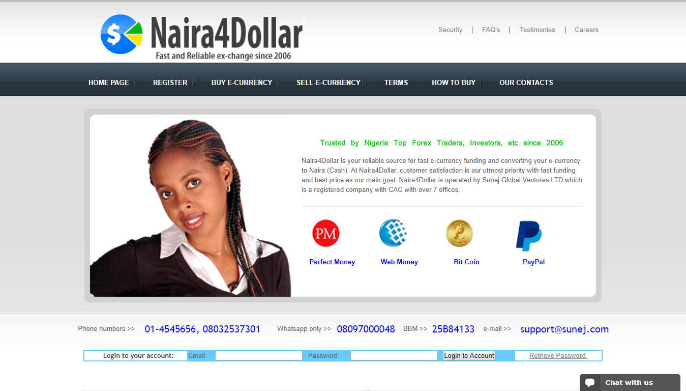 Naira4Dollar exchange