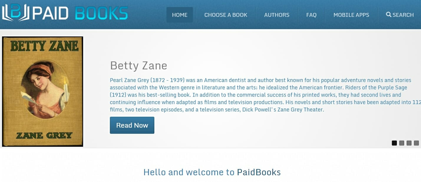 PaidBooks website