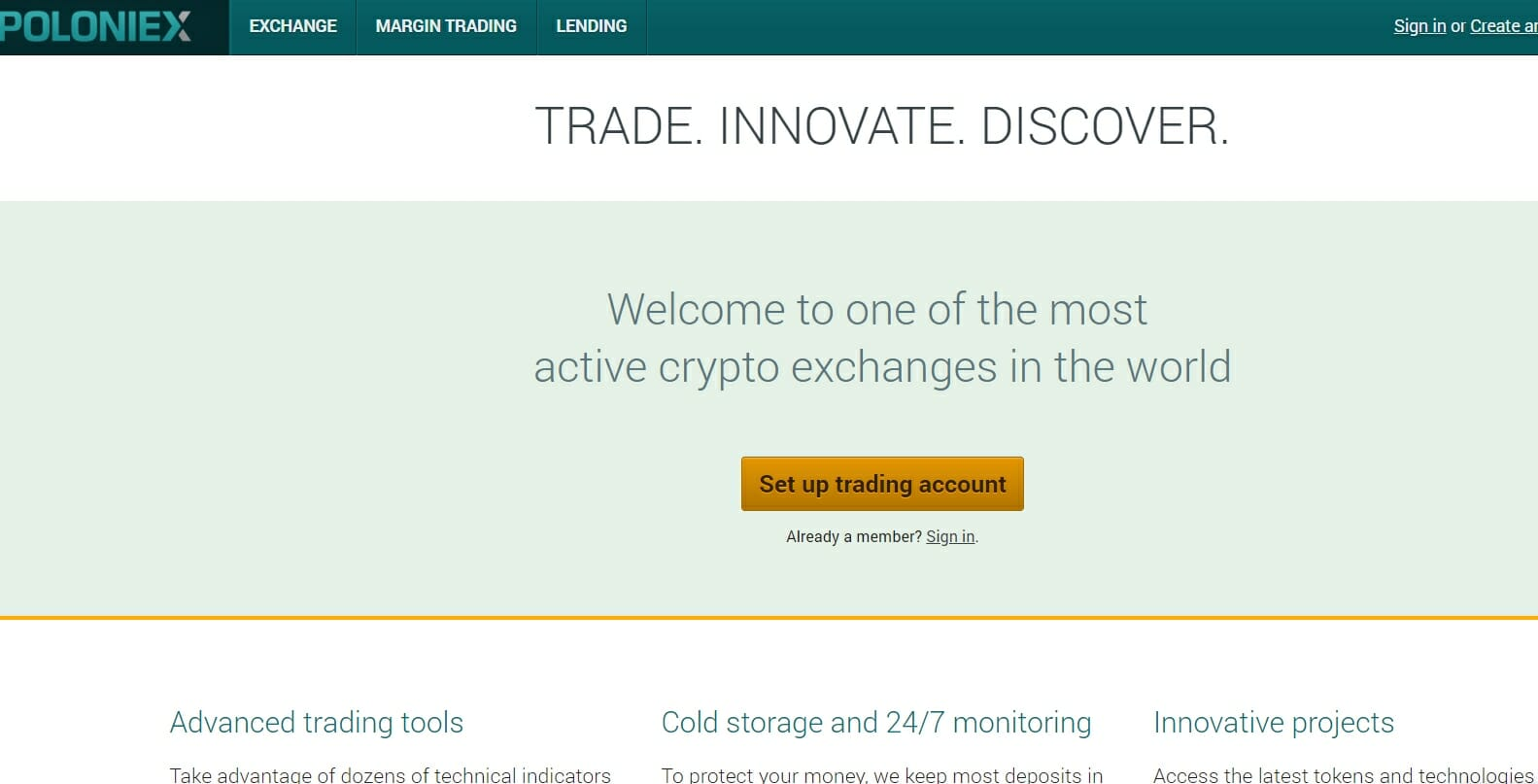 Poloniex BTC exchange