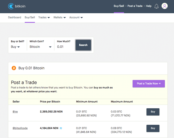Posting trade at Bitkoin Africa