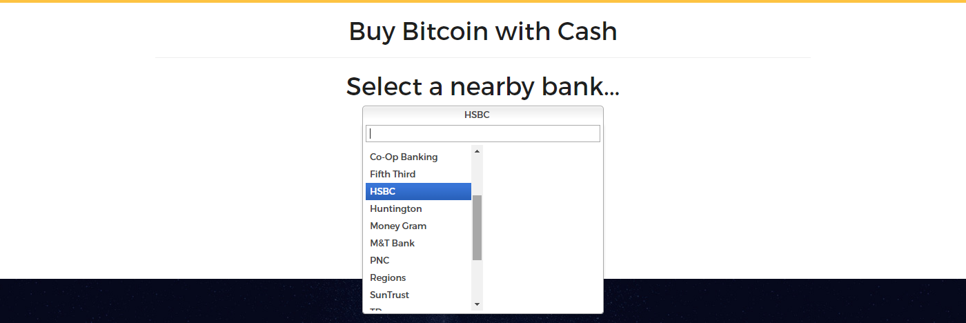 Select a bank at Wall of Coins