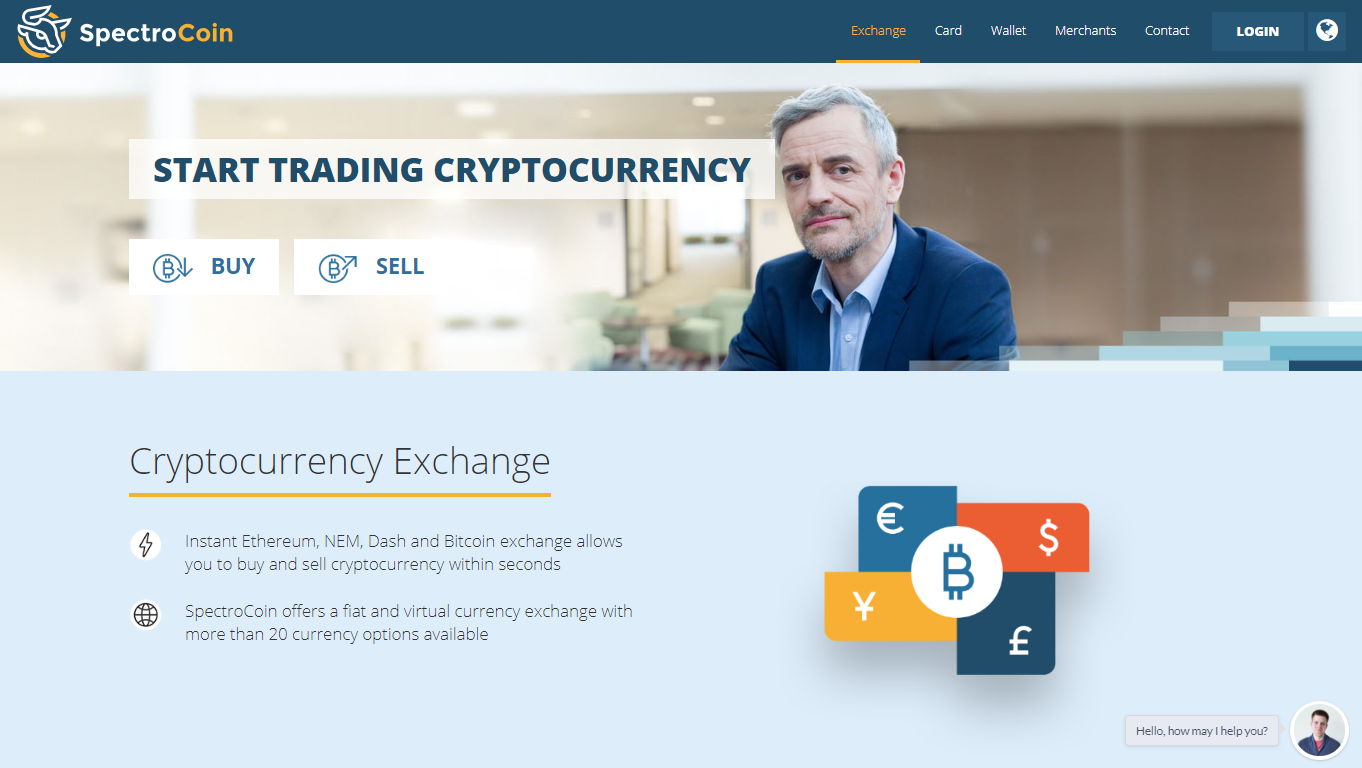 SpectroCoin virtual currency exchange