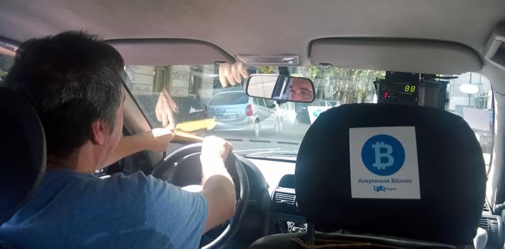 Taxi accepted bitcoin