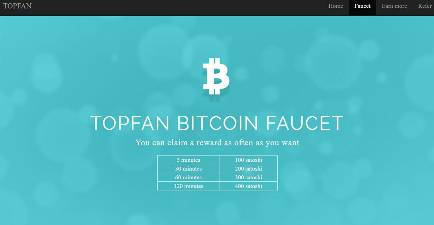 Topfan bitcoin faucet