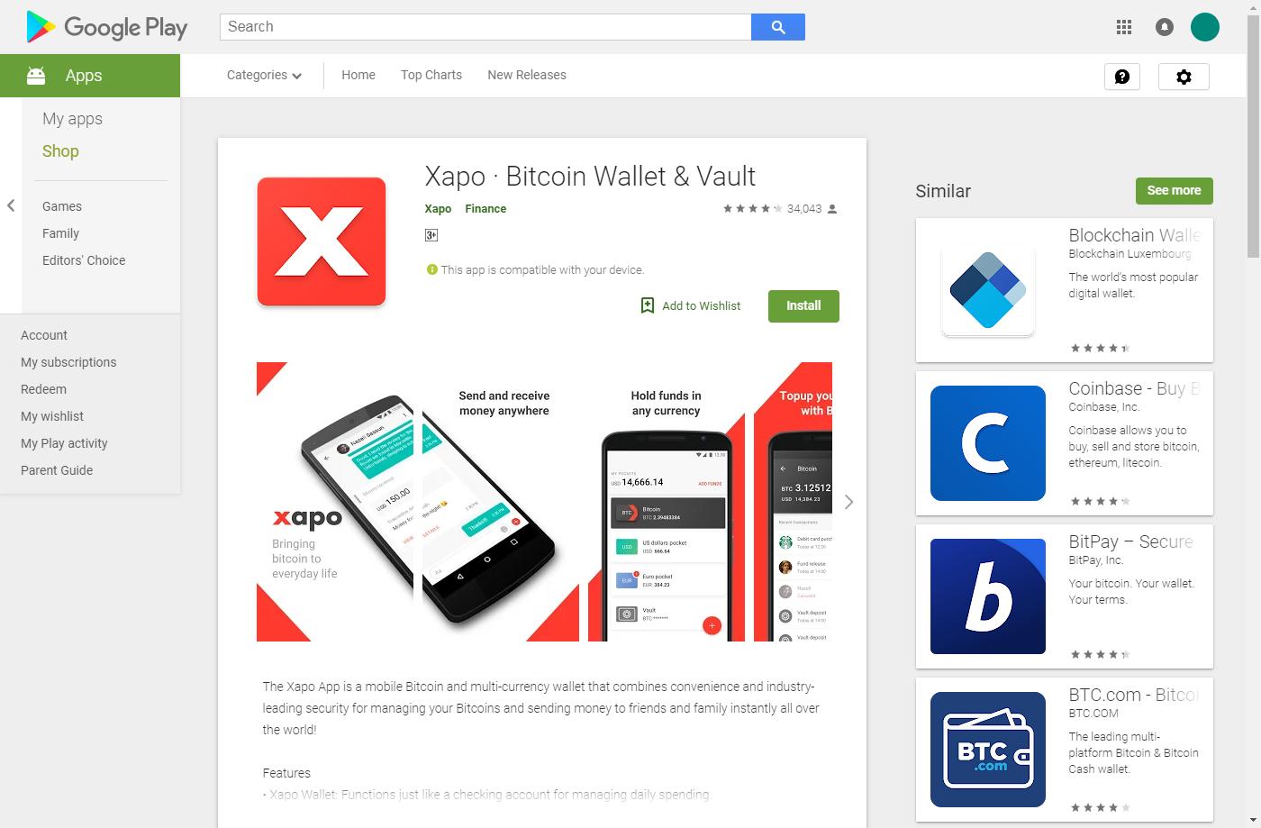 Xapo app