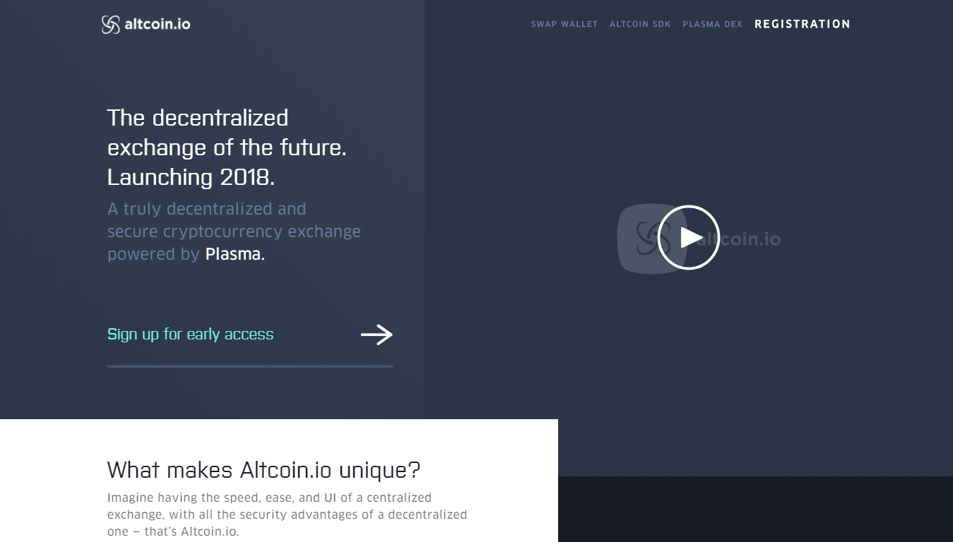 Altcoin.io decentralized cryptocurrency exchange