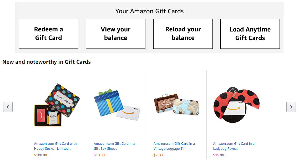 Amazon Card programs