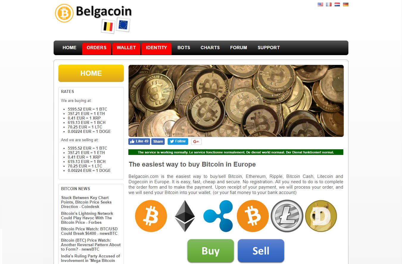Belgacoin platform