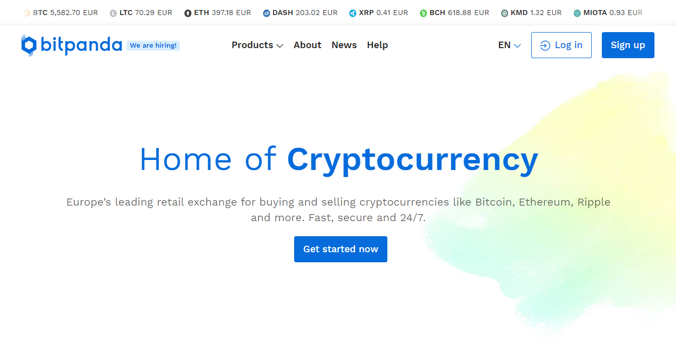 BitPanda platform to buy and sell digital currencies