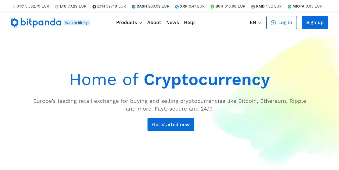 BitPanda platform to buy and sell digital currencies