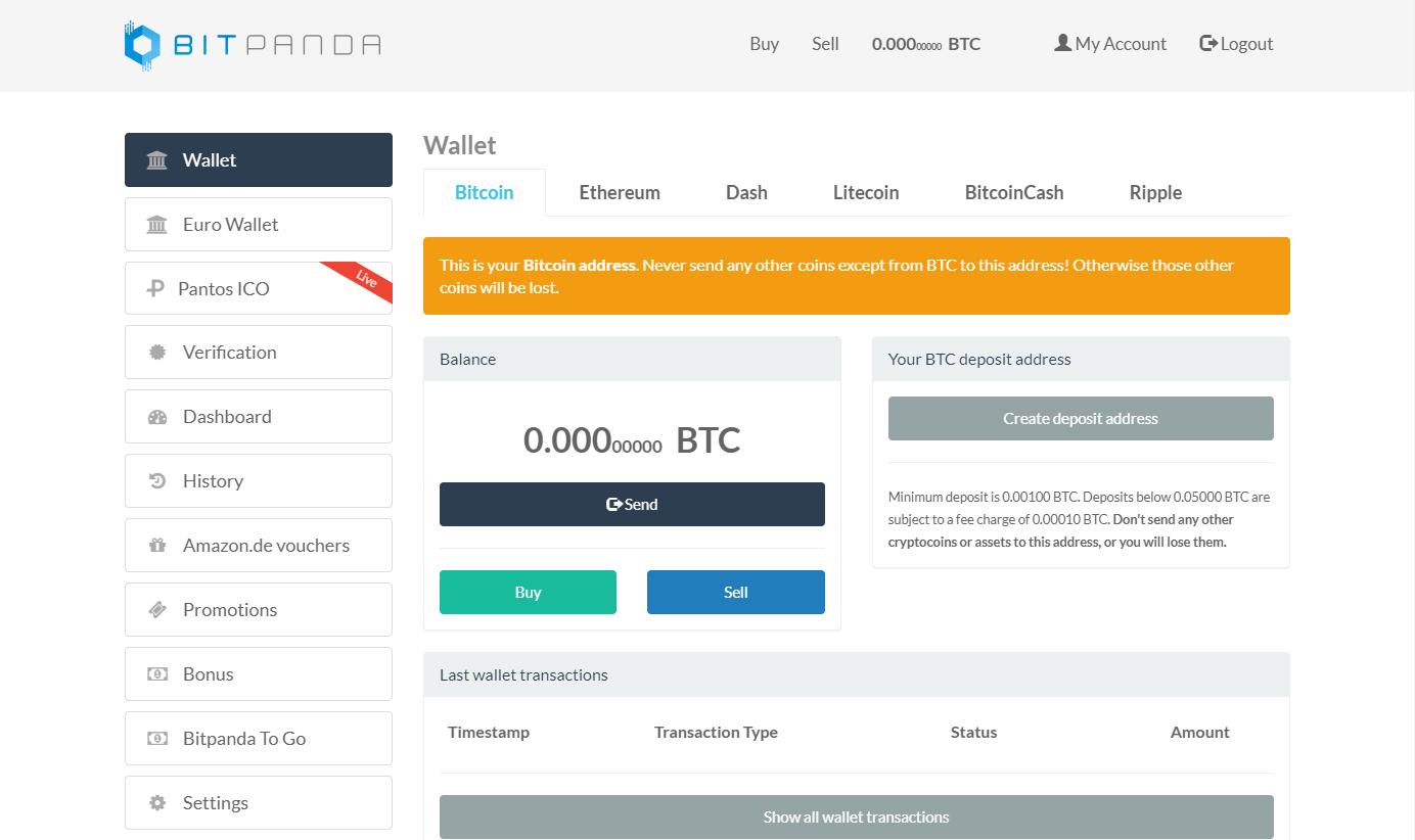 BitPanda wallet