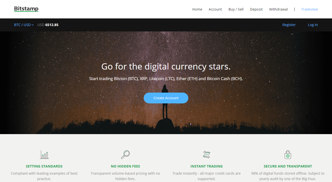 Bitstamp digital currency exchange