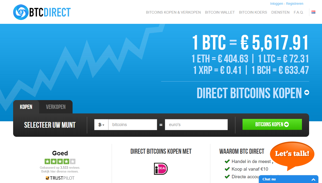 BTCDirect for trading digital currencies