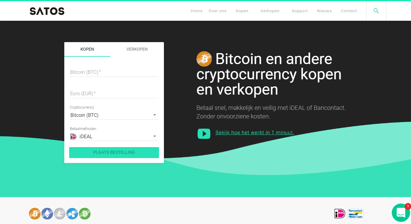 Buy and sell bitcoin with SATOS