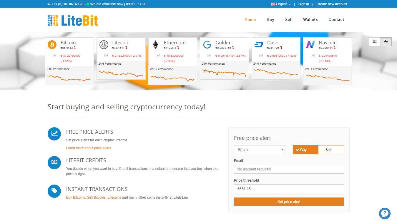 Buying and selling bitcoins at LiteBit