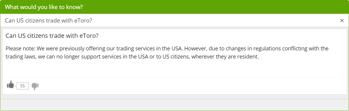 Can US citizens trade with eToro?