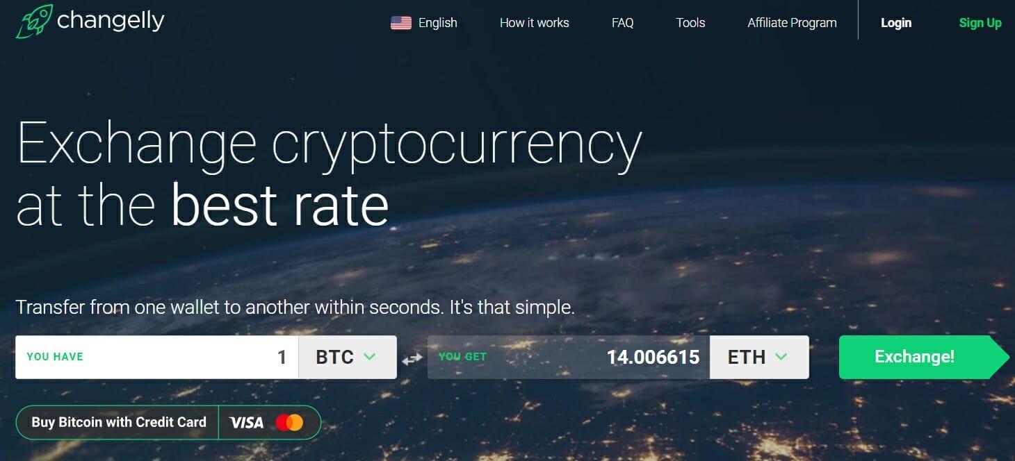Changelly BTC exchange